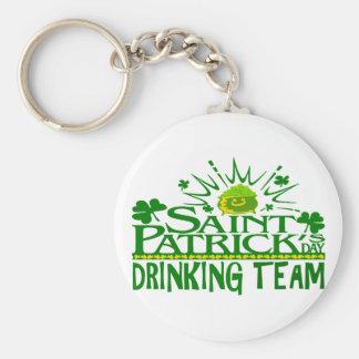 Equipo de consumición del día del St Patricks. Cel Llavero Personalizado