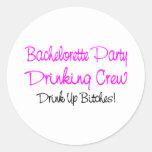 Equipo de consumición del fiesta de Bachelorette Etiqueta