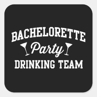 Equipo de consumición del fiesta de Bachelorette Pegatina Cuadrada