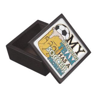 Equipo de consumición del fútbol caja de regalo de calidad