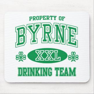 Equipo de consumición del irlandés de Byrne Alfombrilla De Ratón