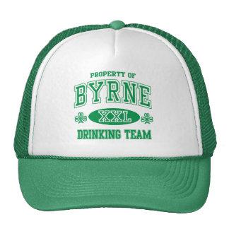 Equipo de consumición del irlandés de Byrne Gorras