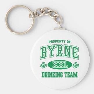 Equipo de consumición del irlandés de Byrne Llavero