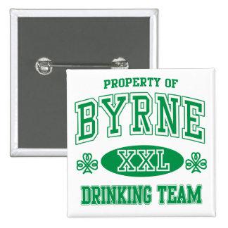 Equipo de consumición del irlandés de Byrne Pin Cuadrado