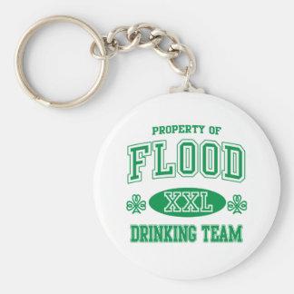 Equipo de consumición del irlandés de la inundació llaveros