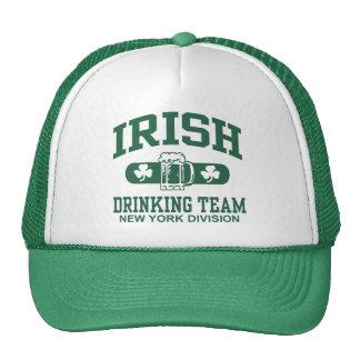 Equipo de consumición del irlandés de Nueva York Gorro De Camionero
