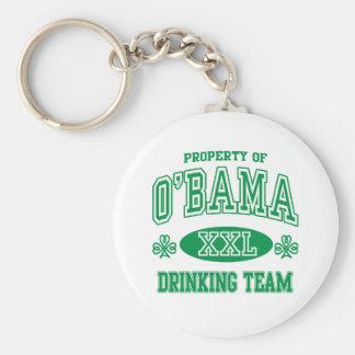 Equipo de consumición del irlandés de Obama Llavero Personalizado