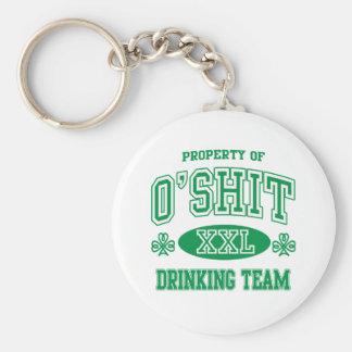 Equipo de consumición del irlandés de O'Shit Llaveros Personalizados