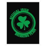Equipo de consumición del irlandés oficial membrete a diseño