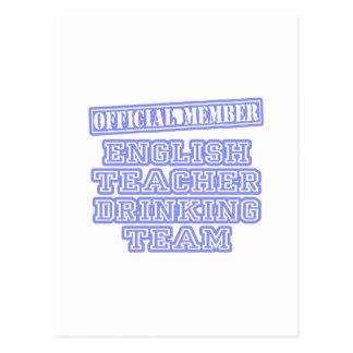 Equipo de consumición del profesor de inglés tarjeta postal