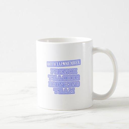 Equipo de consumición del profesor francés taza básica blanca