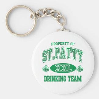 Equipo de consumición del St Patty Llaveros Personalizados