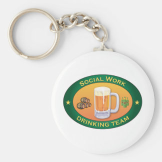 Equipo de consumición del trabajo social llavero personalizado