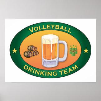 Equipo de consumición del voleibol posters
