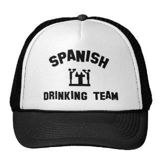 Equipo de consumición español gorro de camionero