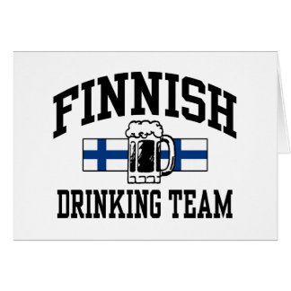 Equipo de consumición finlandés tarjeta de felicitación