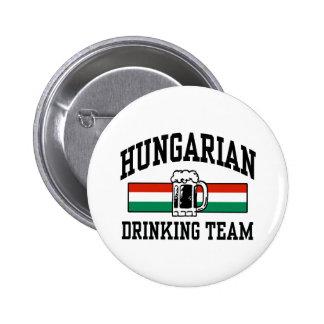 Equipo de consumición húngaro pin redondo de 2 pulgadas