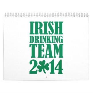 Equipo de consumición irlandés 2014 calendario