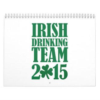Equipo de consumición irlandés 2015 calendario