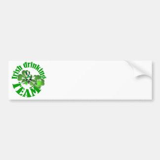 Equipo de consumición irlandés pegatina de parachoque