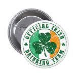 """Equipo de consumición irlandés del """"vintage"""" pin redondo 5 cm"""