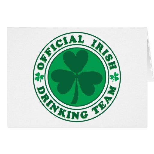 Equipo de consumición irlandés/el día de St Patric Felicitación