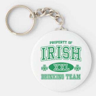Equipo de consumición irlandés llaveros