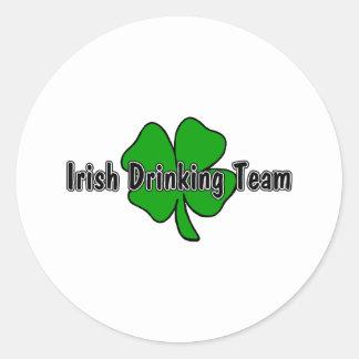 Equipo de consumición irlandés etiqueta