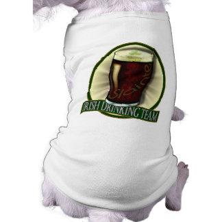 Equipo de consumición irlandés camisa de perrito