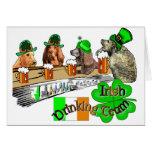 Equipo de consumición irlandés tarjetas