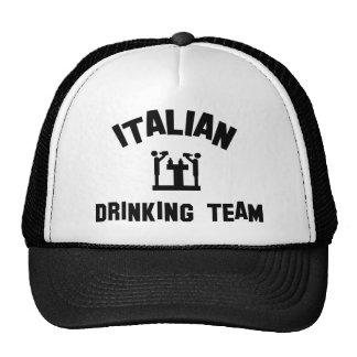 Equipo de consumición italiano gorras de camionero