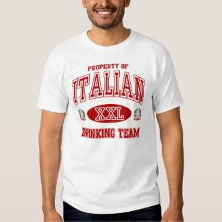Equipo de consumición italiano polera