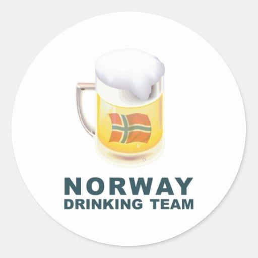 Equipo de consumición noruego etiquetas