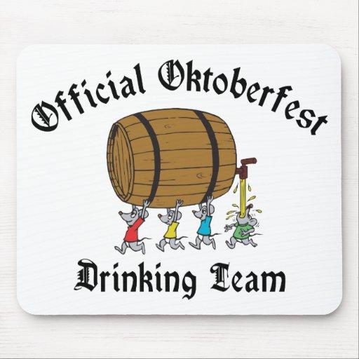 Equipo de consumición oficial de Oktoberfest Tapetes De Ratones