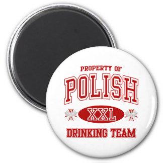 Equipo de consumición polaco imán de frigorífico