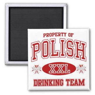 Equipo de consumición polaco imán de nevera