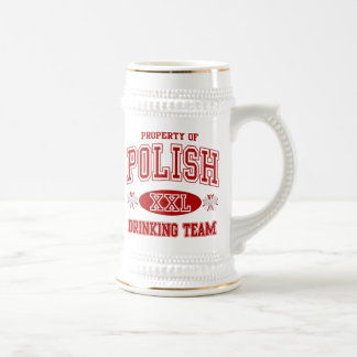 Equipo de consumición polaco jarra de cerveza