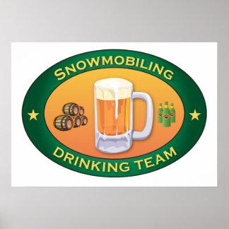 Equipo de consumición Snowmobiling Poster
