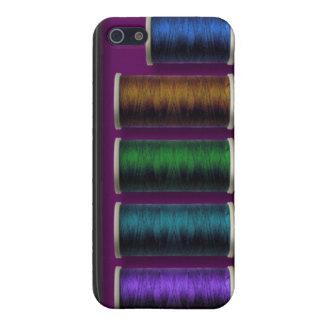 Equipo de costura, hilo coloreado, caso del iphone iPhone 5 carcasa