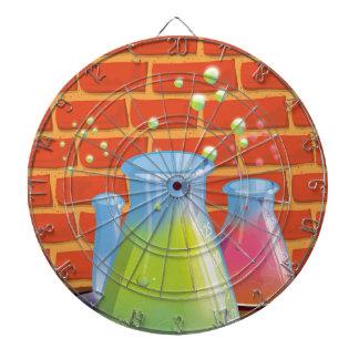Equipo de cristal de la ciencia del dibujo animado