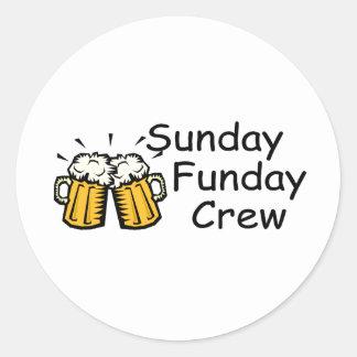 Equipo de domingo Funday (cerveza) Etiqueta Redonda