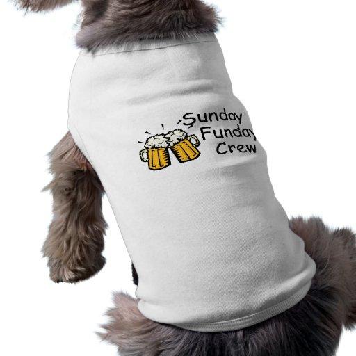 Equipo de domingo Funday (cerveza) Camisa De Perrito