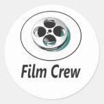 Equipo de filmación etiquetas redondas