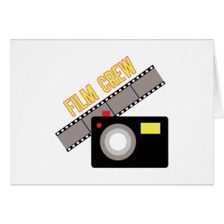 Equipo de filmación felicitacion