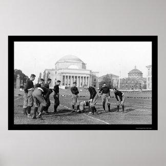 Equipo de fútbol 1916 del equipo universitario de  póster