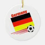Equipo de fútbol alemán adorno