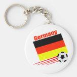 Equipo de fútbol alemán llavero