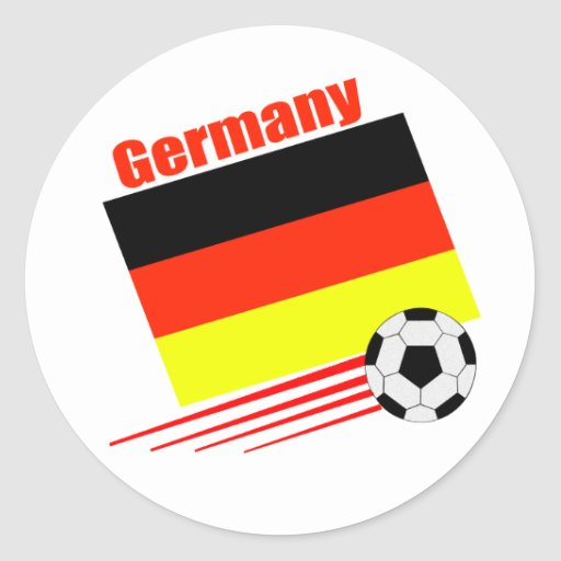 Equipo de fútbol alemán pegatina