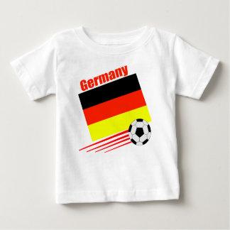 Equipo de fútbol alemán playeras