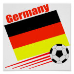 Equipo de fútbol alemán poster